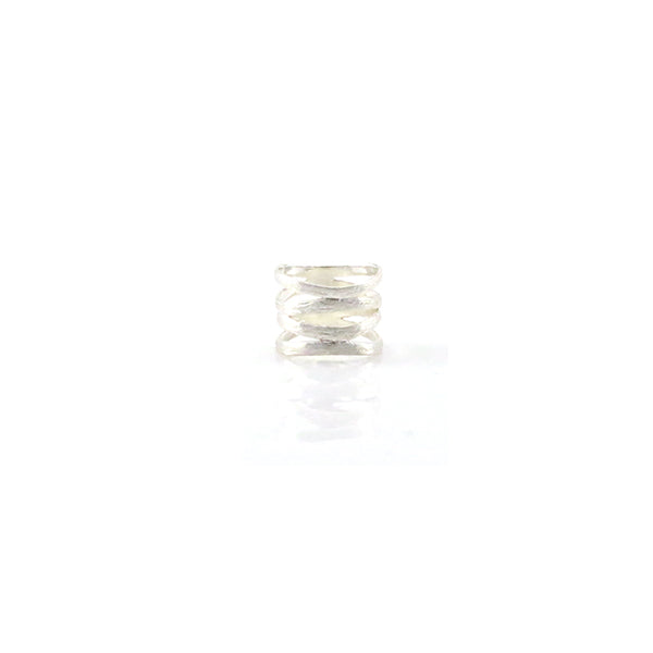 Cutout Quartet Line Sterling Silver Basic Ring