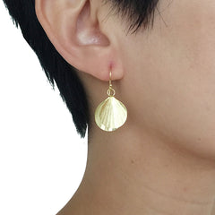 Duo Mini Orbicular Gold Sterling Silver Earrings