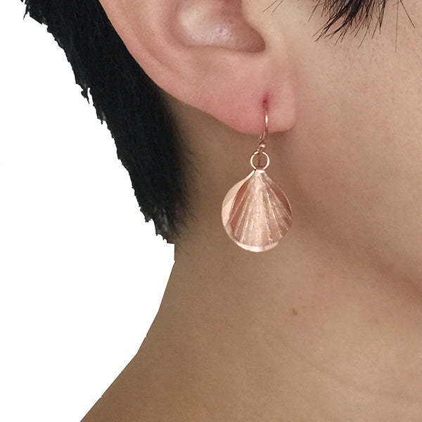 Duo Mini Orbicular Rose Gold Sterling Silver Earrings