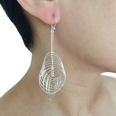 Big Whisker Sterling Silver Earrings