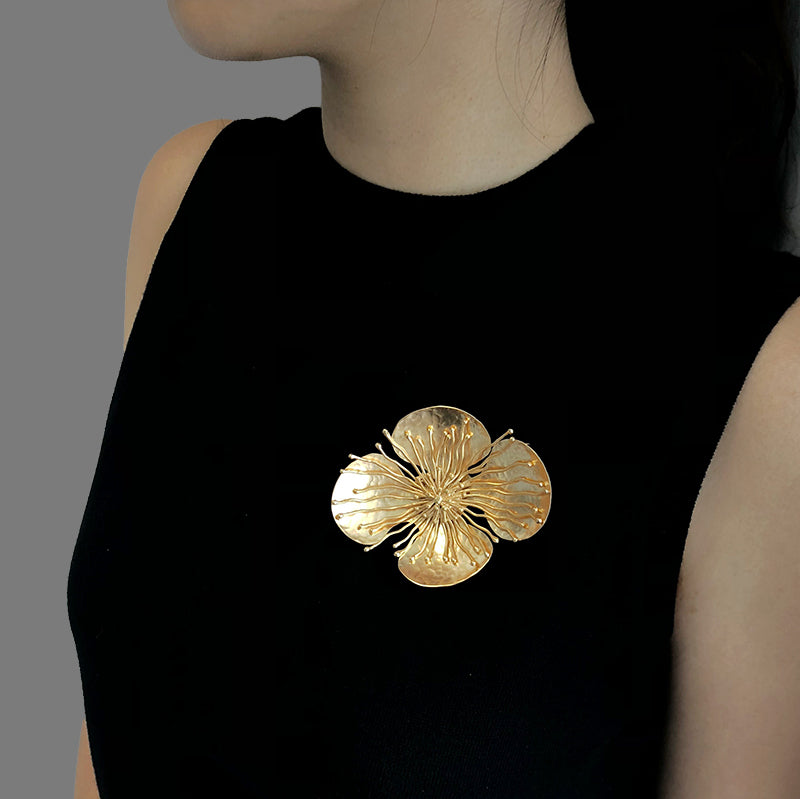 Sparkle Gold Brooch