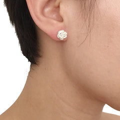 Rose Sterling Silver Studs