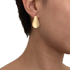 Double Leaf Set Gold Studs