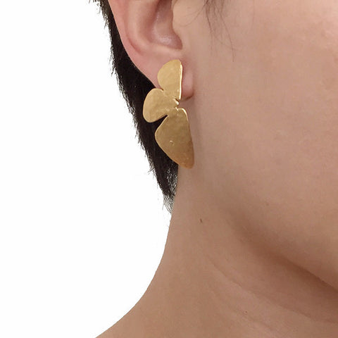 Half Butterfly Gold Studs