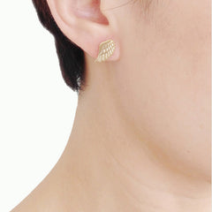 Eagle Wings Gold Studs