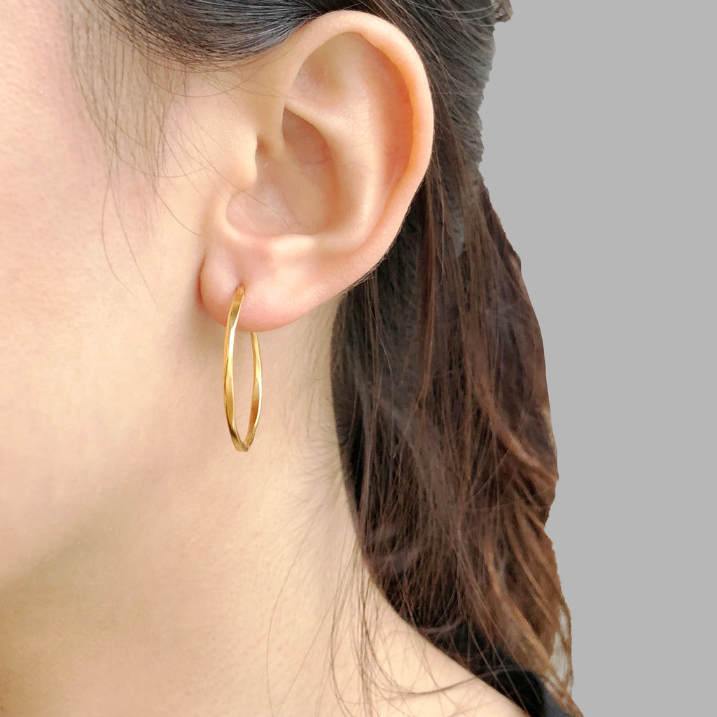 Small Hoop Gold Earrings