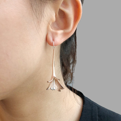Lily Rose Gold Sterling Sliver Pull-Thru Earrings