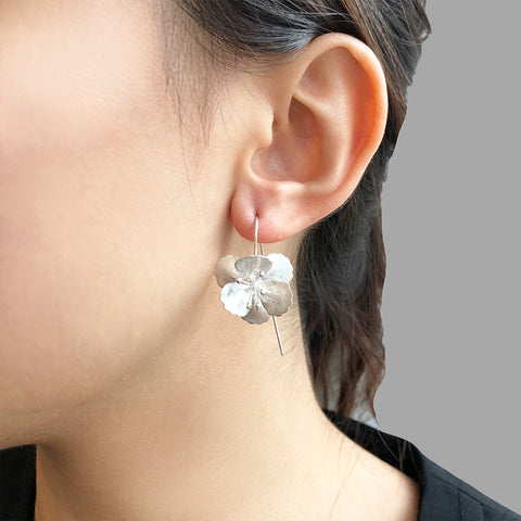 Big Eschscholzia Sterling Silver Pull-Thru earrings