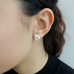 Dog Sterling Sliver Studs