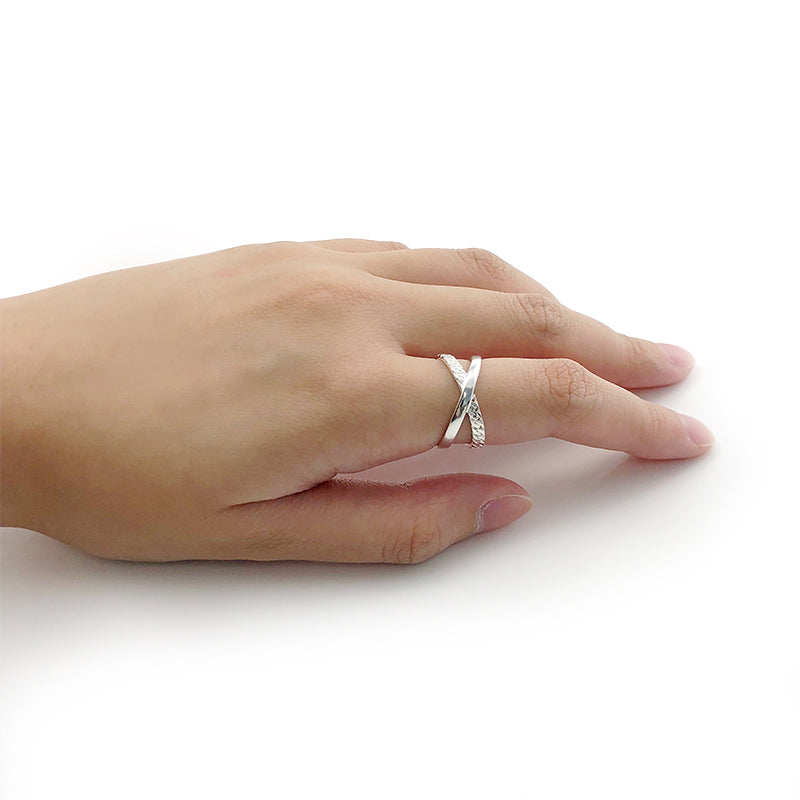 The Pointy X Cross Sterling Sliver Ring