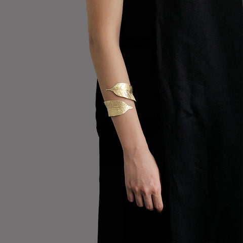 Whole Long Leaf Gold Sterling Sliver Bangle