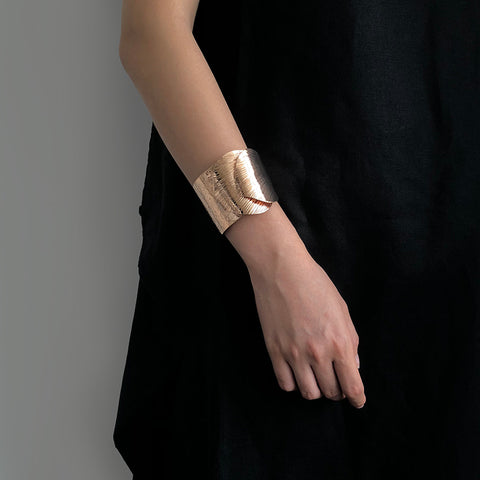 Bold Duo Obtuse Rose Gold Bangle
