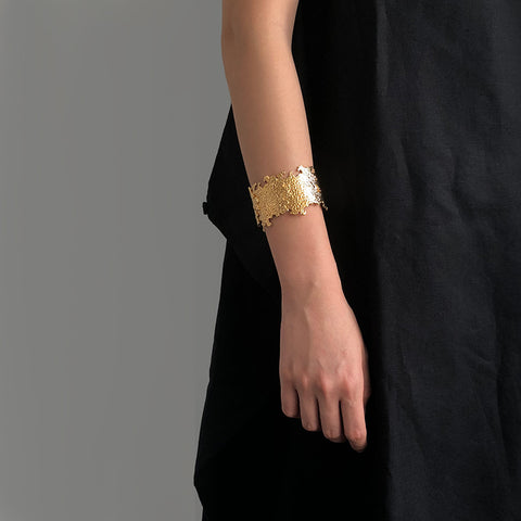 Bold Lava Gold Bangle