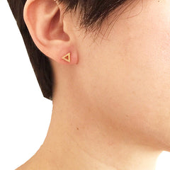 Cutout Triangle Gold Studs