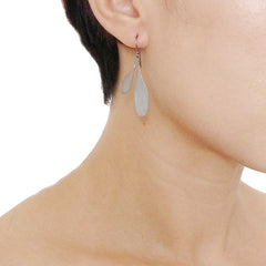 Spatulate Duo Dark Grey Earrings