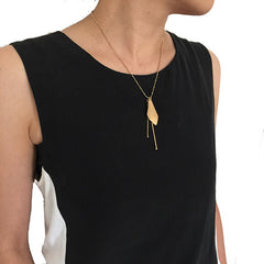 Sida with Duo Filament Gold Short Necklace