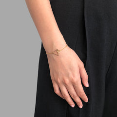 Duo Cutout Triangle Gold Bracelet