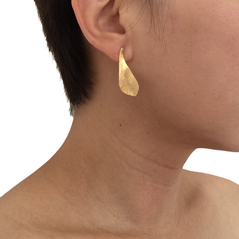 Falcate Gold Studs