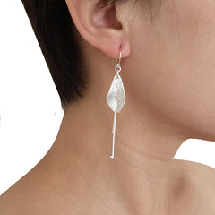 Sida with Duo Filament Silver Earrings