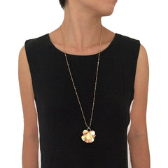 Orbicular Long Gold Necklace