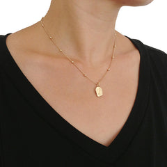 Ovate Short Gold Necklace