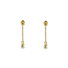Pearl waterdrop Gold Sterling Earrings