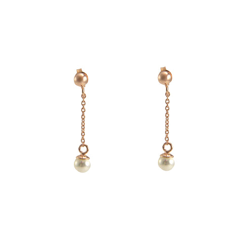Pearl waterdrop Rose Gold Sterling Earrings