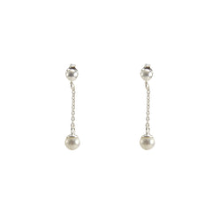 Pearl waterdrop Sterling Silver Earrings