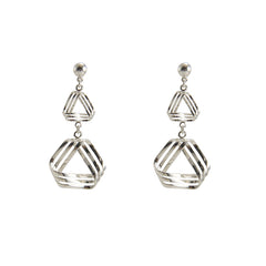 Triple Triangle Sterling Silver Earrings