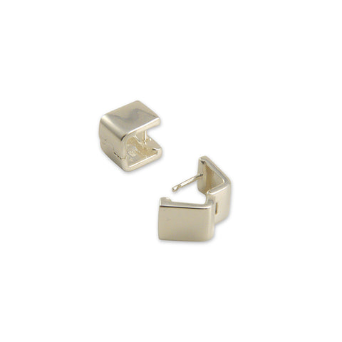 3D square Sterling Silver Earrings