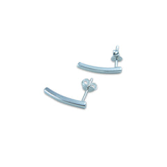 3D Stripe Silver Sterling Silver Earrings