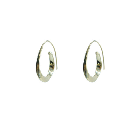 Concentric Random Circles Gold Sterling Silver Earrings