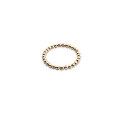 Basic Tiny Round Ball Rose Gold Sterling Silver Ring