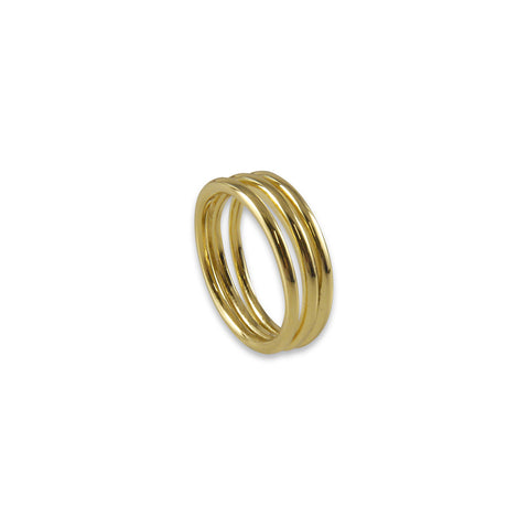 Three layers Gold Ring
