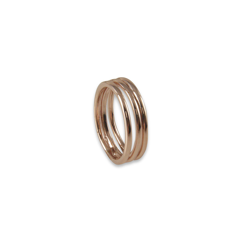 Three layers Rose Gold Ring