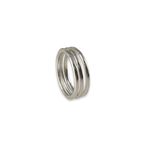 Three layers Sterling Silver Ring