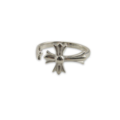 3D cross Silver Ring