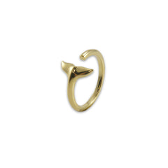 3D fishtail Gold Ring