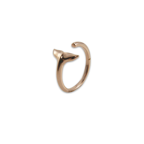 3D fishtail Rose Gold Ring
