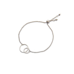 Duo Cutout Circle Sliver Bracelet
