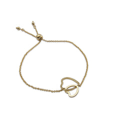 Duo Cutout Heart Gold Bracelet