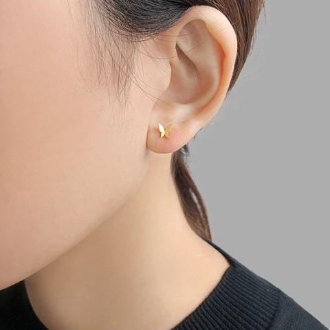 Mini Butterfly Gold Studs