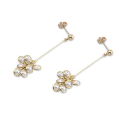 Pearl Grape Gold Pierced Earrings