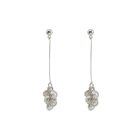 Pearl Grape Sliver Pierced Earrings