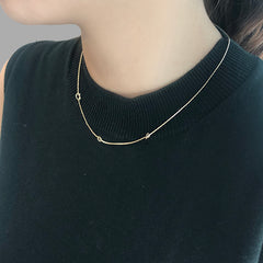 Triple knots Gold Short Necklace