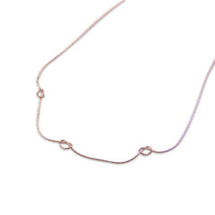Triple knots Rose Gold Short Necklace