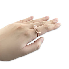 Eagle Wings Rose Gold Ring
