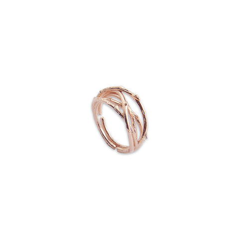 Thick Branch Rose Gold Ring