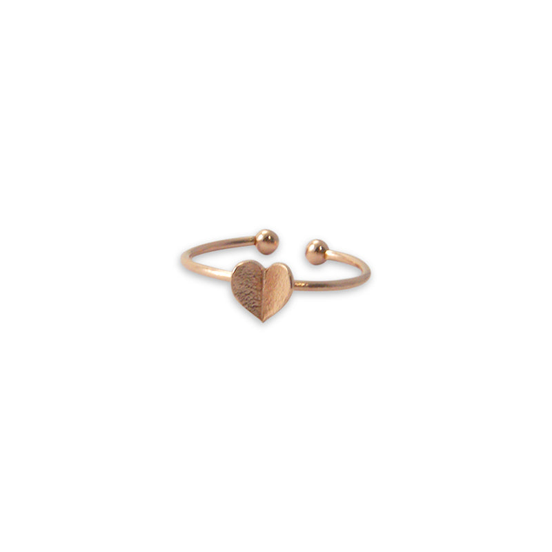 Folded heart Rose Gold Ring
