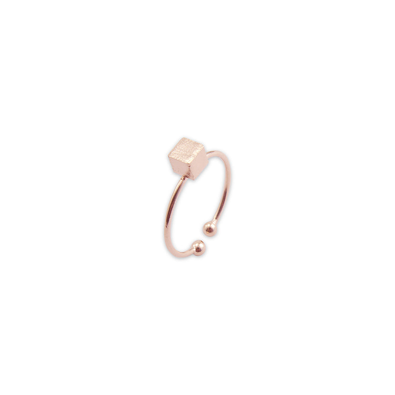 Solid cube Rose Gold Ring